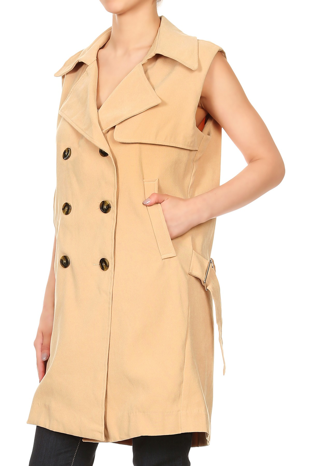 Beige open front vest duster outfits investment consultant rfp 2021 movie